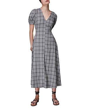 Whistles Checked Trapeze Midi Dress