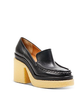 Chloé - Women's Jamie Leather Loafer Pumps