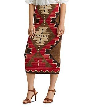 Ralph Lauren - Woven Straight Midi Skirt