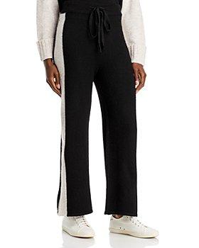 AQUA - Racing Stripe Knit Pants - 100% Exclusive