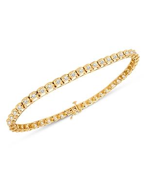 Bloomingdale's Men's Diamond Tennis Bracelet in 14K Yellow Gold, 2.0 ct. t.w. - 100% Exclusive