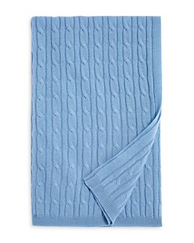 Bloomie's Baby - Unisex Cable Knit Cashmere Baby Blanket