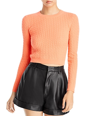 Ciara Cable Knit Cropped Sweater