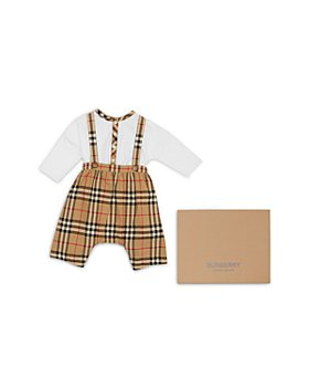 Burberry - Boys' 2 Pc. Check Cotton Bodysuit & Dungarees Gift Set - Baby