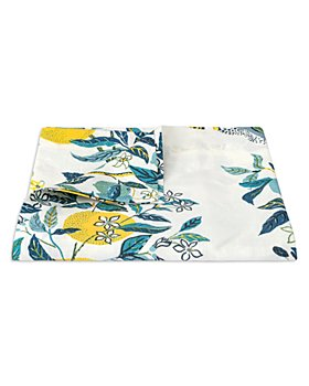 """Matouk - Citrus Garden Round Tablecloth, 90"""""""