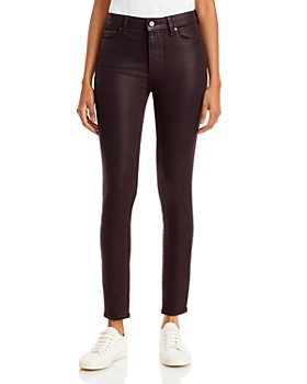 PAIGE - Hoxton Coated Skinny Ankle Jeans