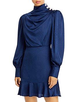 AQUA - Button Shoulder Dress - 100% Exclusive