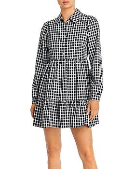 AQUA - Collared Tiered Dress - 100% Exclusive