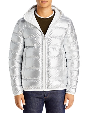 Moncler Freville Nylon Reversible Quilted Hooded Down Jacket