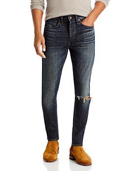 rag & bone - Slim Fit Ripped Stretch Jeans