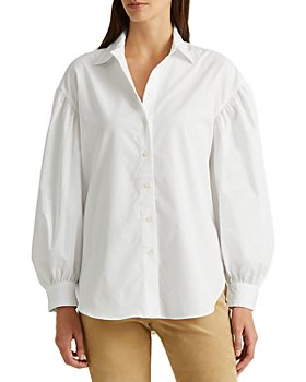 Ralph Lauren - Broadcloth Blouson Sleeve Shirt