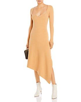 AQUA - Asymmetric Hem Midi Dress - 100% Exclusive