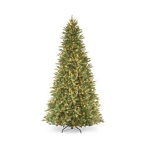 National Tree Company 9 ft. Feel Real Tiffany Fir Slim Hinged Tree with Clear Lights