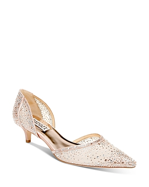 Women's Madelyn Pointed Toe Embellished Kitten Heel d'Orsay Pumps
