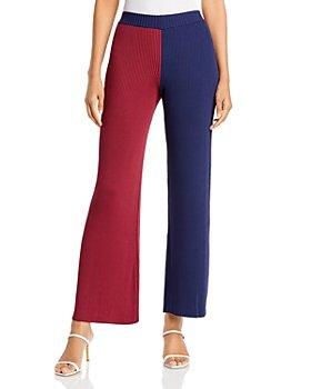 STAUD - Fama Color Blocked Pull On Pants