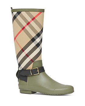 Burberry - Women's House Check Rubber Rain Boots