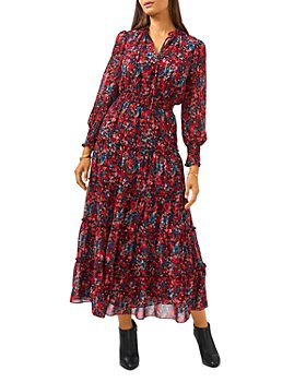 VINCE CAMUTO - Floral Print Tiered Dress