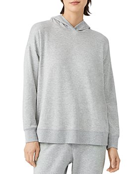Eileen Fisher - Hooded Boxy Long Sleeve Top