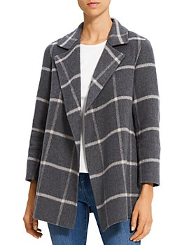 Theory - Clairene Check Coat