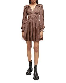Maje - Smocked Ruffled Dress
