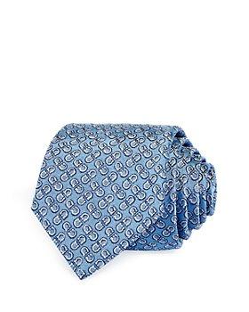 Salvatore Ferragamo - Textured Double Gancini Silk Classic Tie