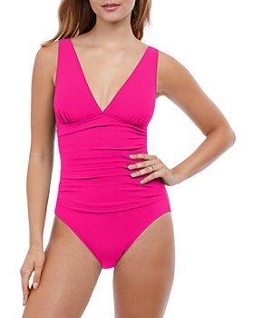 Profile by Gottex - Tutti Frutti V-Neck One Piece Swimsuit