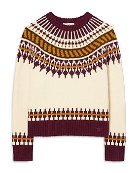 Tory Burch - Fair Isle Merino Wool Sweater