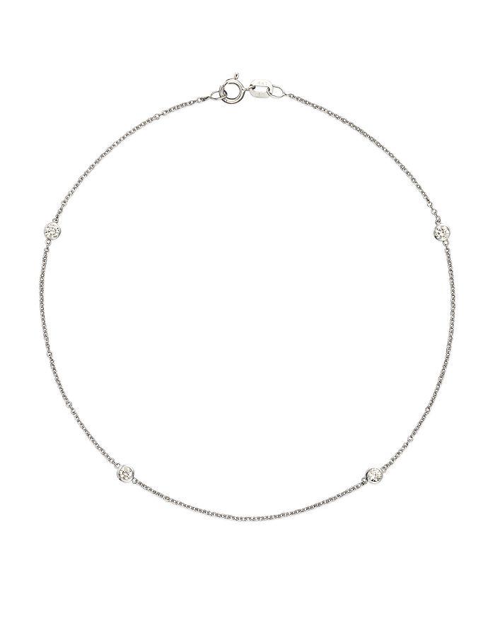 Bloomingdale's DIAMOND BEZEL ANKLE BRACELET SET IN 14K WHITE GOLD, .20 CT. T.W. - 100% EXCLUSIVE