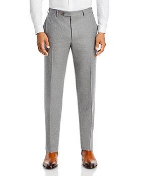 Canali - Siena Wool Flannel Classic Fit Dress Pants
