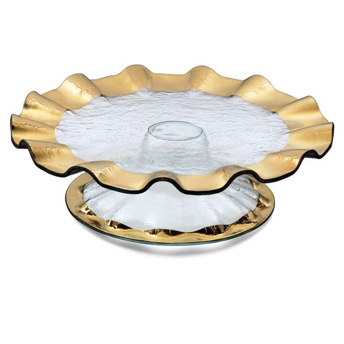 "Annieglass - ""Ruffle"" Cake Plate"