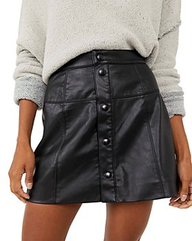 Free People - Maisie Faux-Leather Mini Skirt
