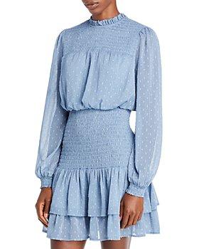 AQUA - Clip Dot Smocked Waist Dress - 100% Exclusive