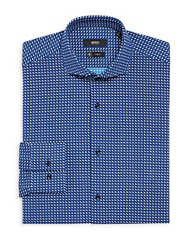 BOSS - Jason Performance Stretch Geometric Slim Fit Dress Shirt