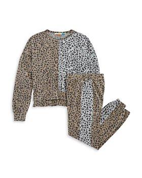 Vintage Havana - Girls' Animal Print Sweatshirt & Jogger Pants - Big Kid