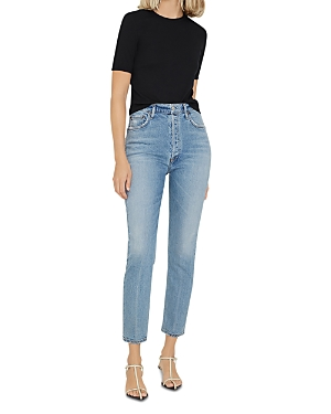 Agolde Nico High Rise Ankle Jeans in Chronicle