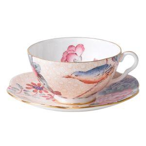 Wedgwood Cuckoo Tea Story Tea Cup & Saucer, Peach