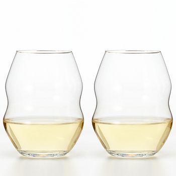 "Riedel - ""Swirl"" White Wine Glass, Set of 2"