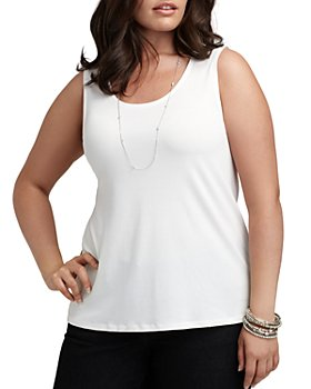 Eileen Fisher Plus - System Silk Jersey Tank