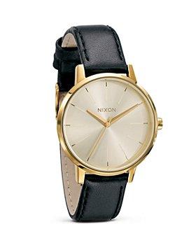 Nixon - The Kensington Leather Watch, 36 1/2mm