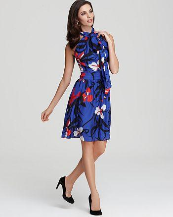 Issa London - Chiffon Floral Print Halter Dress
