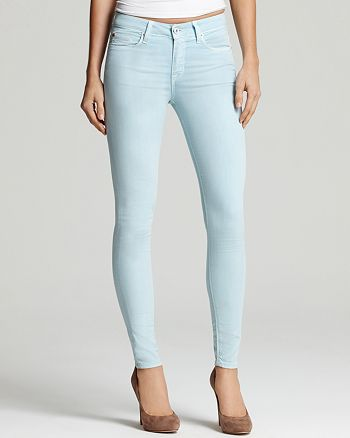 Hudson - Jeans - Nico Mid Rise Lightweight Stretch Skinny Jeans in Berry