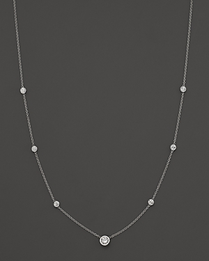 Click here for Diamond Station Necklace in 18K White Gold  1.0 ct... prices
