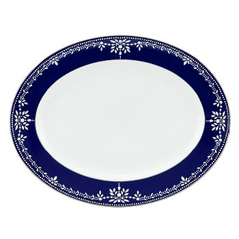 """Marchesa by Lenox - Empire Pearl Oval Platter, 13"""""""