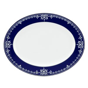 Marchesa by Lenox Empire Pearl Oval Platter, 13