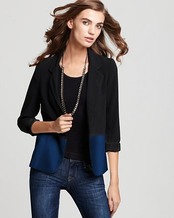 AQUA - Color Block Girlfriend Blazer - 100% Exclusive
