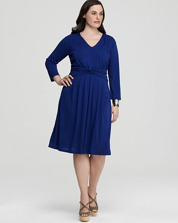 Jones New York Collection Plus Size Fit and Flare Dress ...