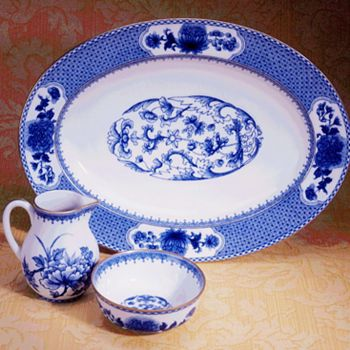 "Mottahedeh - ""Imperial Blue"" Oval Platter"