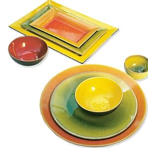 Jars Tourron Orange Round Dish