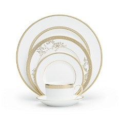 Vera Wang Wedgwood Vera Lace Gold 5 Piece Place Setting - Bloomingdale's Registry_0