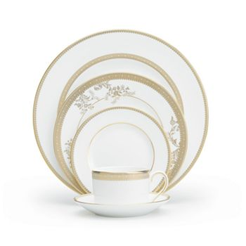 Wedgwood - Lace Gold 5-Piece Place Setting